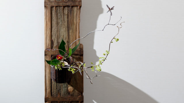 Put Flowers in the Bamboo Flower Basket