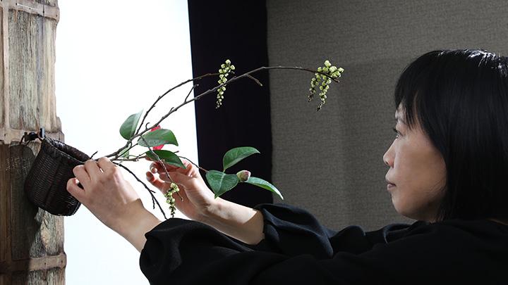 Bamboo Flower Basket-2